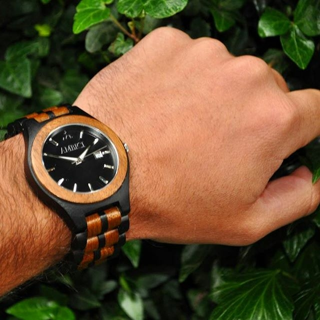 Ambici Ebony wood watch
