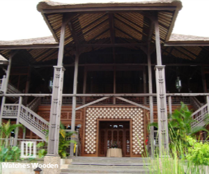 Entrance wood restaurant
