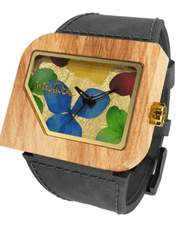Avanti Flowers, Grey Teak Multicolour, Watches Wooden