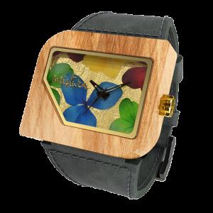 Avanti Flowers, Grey Teak Multicolour, Watches Wooden