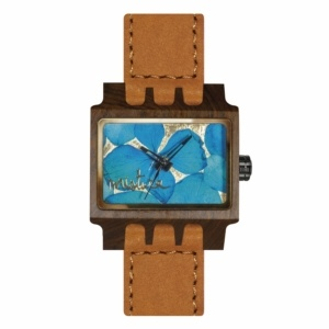 Mistura Lenzo Flowers Collection Wood Watch