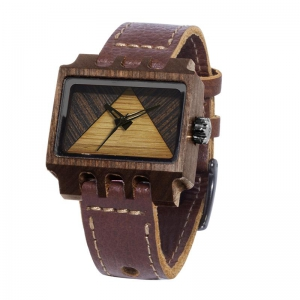 Lenzo, Brown Pui Timber 2, Watches Wooden