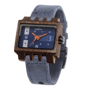 Lenzo, Grey Pui Navy, Watches Wooden