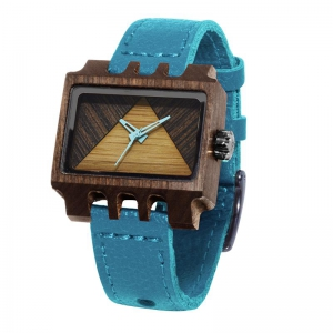 Lenzo, Turquoise Pui Timber 2, Watches Wooden