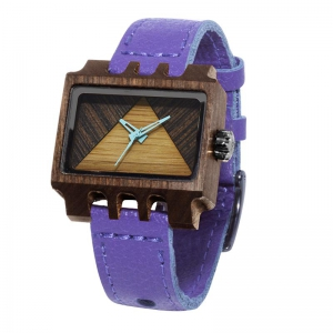 Lenzo, Violet Pui TImber 2, Watches Wooden