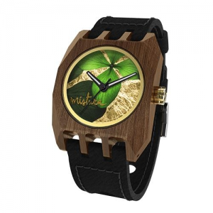 Volcano Flowers, Black Pui Green, Watches Wooden