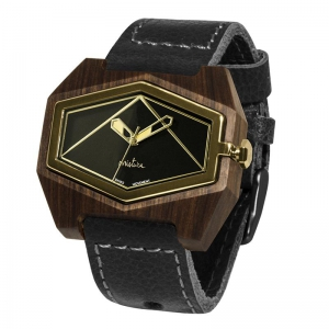 black pui black gold Watches Wooden