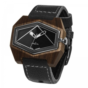 black pui black silver watches wooden