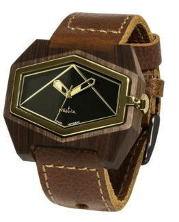 brown pui blackgold watches wooden