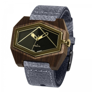 grey pui blackgold watches wooden