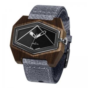 grey pui blacksilver watches wooden
