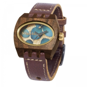 kamera flowers brown pui blue, Watches Wooden