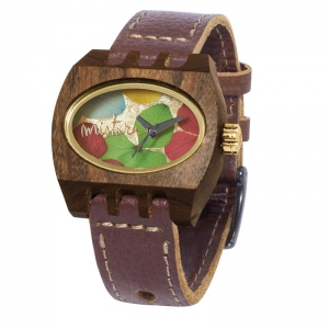 kamera flowers brown pui multicolour, Watches Wooden