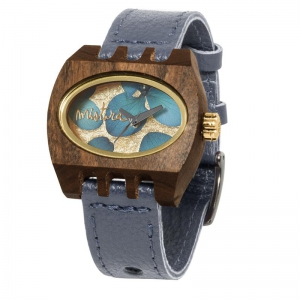 kamera flowers grey pui gold, Watches Wooden