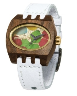 kamera flowers white pui multicolour, Watches Wooden