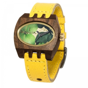 kamera flowers yellow green pui, Watches Wooden