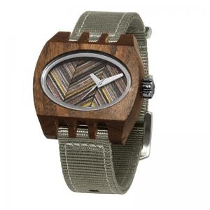 nylon grey pui timber 2 kamera, Watches Wooden