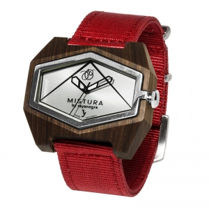 nylon red pui silver watches wooden