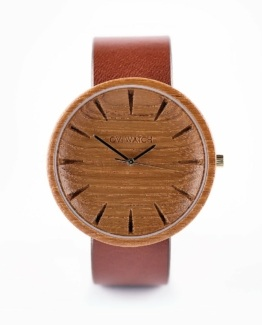 Grandis Ovi Wood Watch, Front view