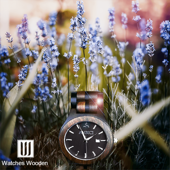 Ambici Wood Watch Spring