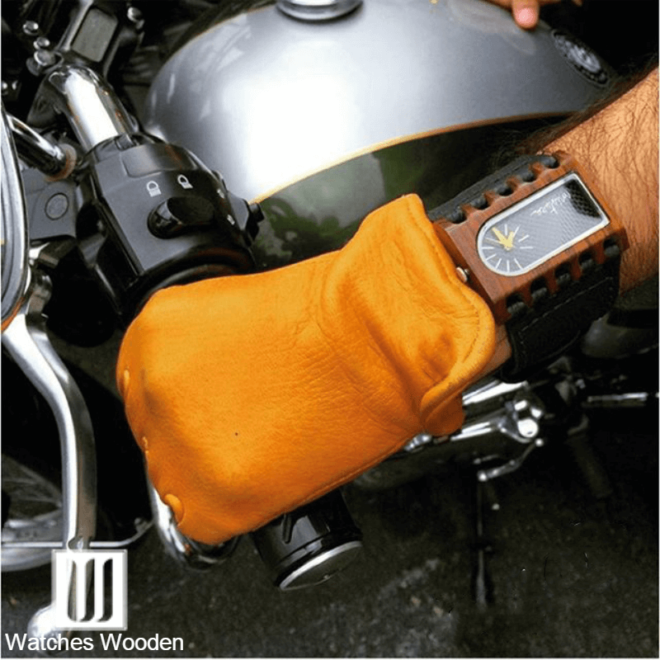 Mistura Wood Watch Motorcyle