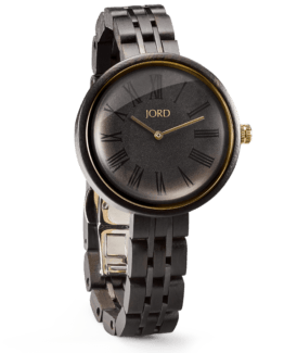 Jord Wood watch Cassia Ebony & Sable