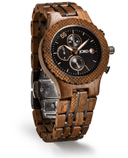 Jord Wood Watch Conway Series Walnut & Jet Black