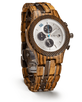 Jord Wood Watch Conway Series Zebrawood & Dark Sandalwood