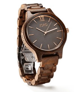 Jord Wood Watch Frankie Series Dark Sandalwood & Smoke