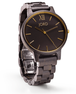Jord Wood Watch Frankie Series Ebony & Gold
