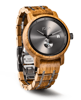 Jord Wood Watch Hyde Series Kosso & Gray