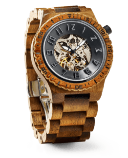 Jord Wood Watch Dover Series Koa & Black