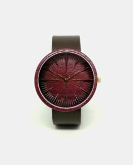 Purpleheart Ovi Wood Watch