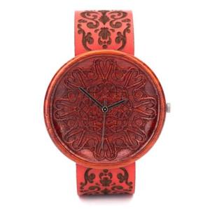Red Amare Ovi Wood Watch