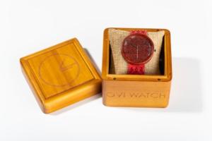Red Amare Ovi Wood Watch box